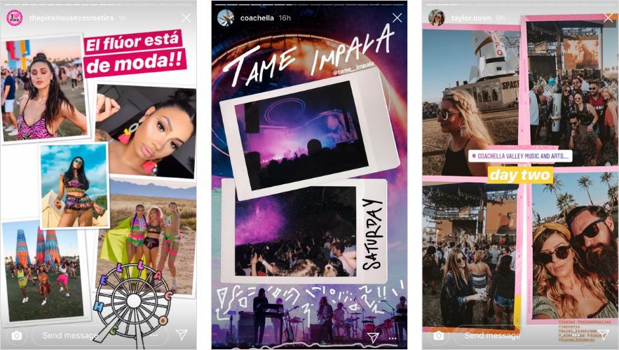 Applications pour Instagram Stories: Storyluxe x Revolve pour Coachella