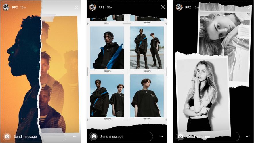 Applications pour Instagram Stories: Déplier