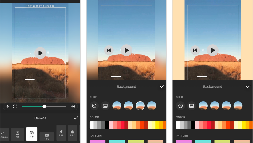 Applications pour Instagram Stories: InShot