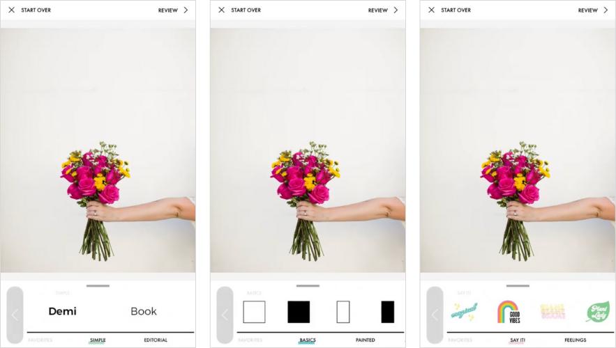 Applications pour Instagram Stories: un kit de conception