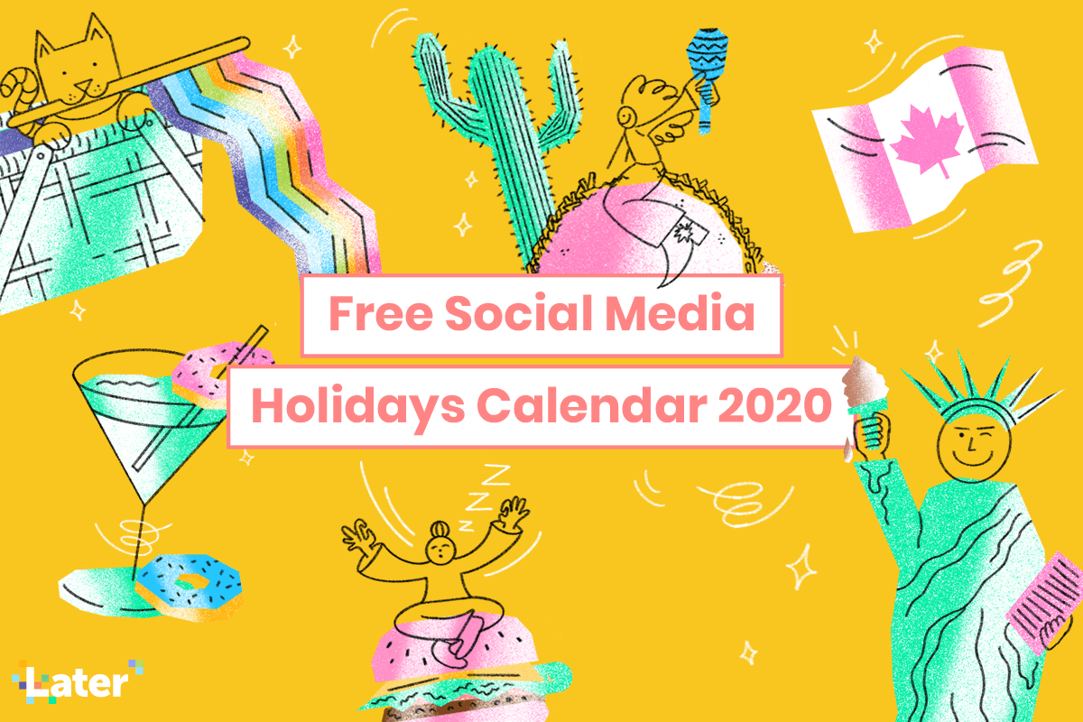 Calendrier des fêtes sur les réseaux sociaux 2020