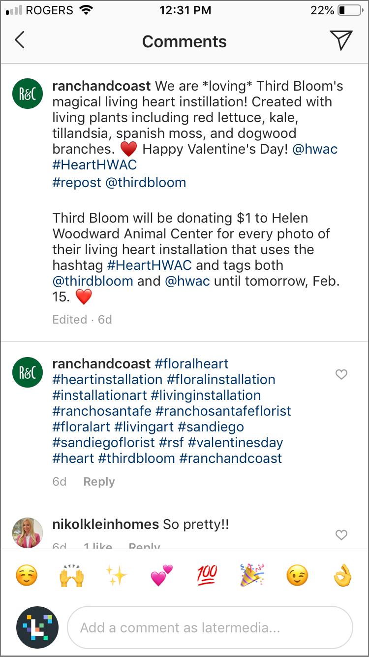 hacks hashtag instagram: premier commentaire