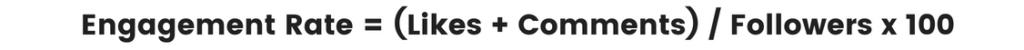 Statistiques Instagram à suivre: calcul du taux d'engagement