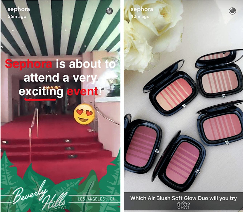 Snapchat Sephora